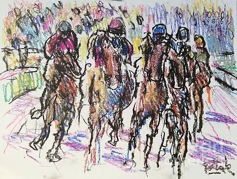 Racing Horses  by Russ Potak