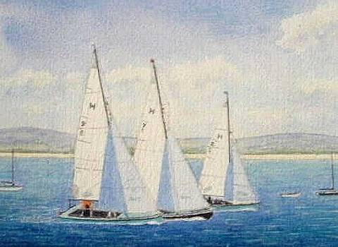 Racing Yachts - Dee Estuary by Peter Farrow