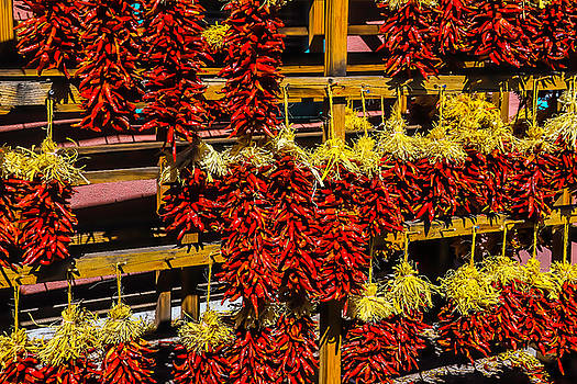 Racks Of Chili Peppers by Garry Gay