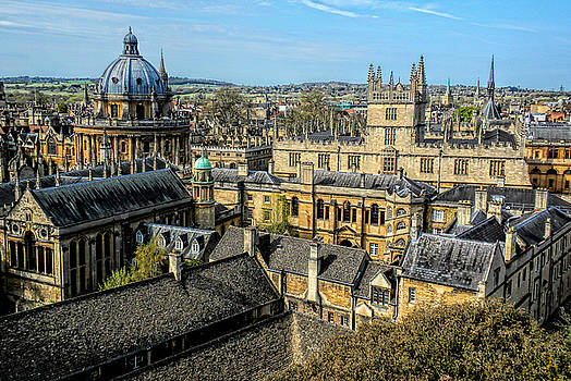 Radcliffe Camera and Bodleian Library Oxford by Nigel Fletcher-Jones