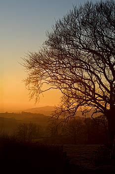 Raddon Hill at sunset by Pete Hemington