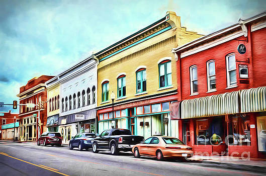 Radford Virginia - Along Main Street by Kerri Farley