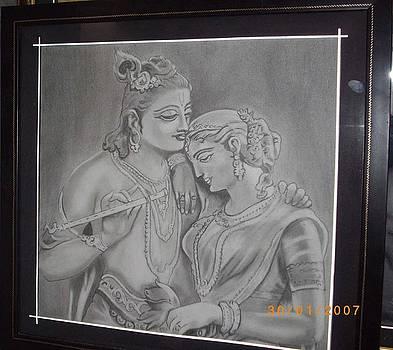 Radha Krishna by Rajendra Parekh