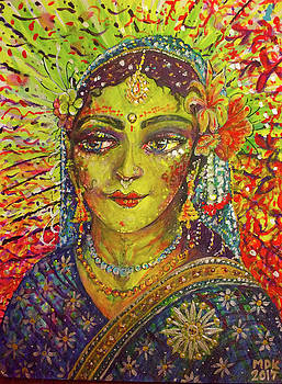 Radharani Portrait by Michael African Visions