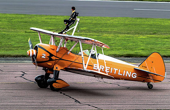 RAF Scampton 2017 - Breitling Wingwalkers At Rest by Scott Lyons