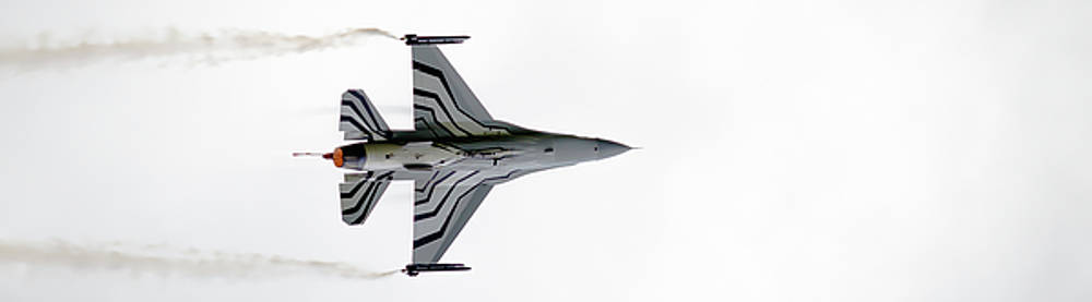 RAF Scampton 2017 - F-16 Fighting Falcon On White by Scott Lyons