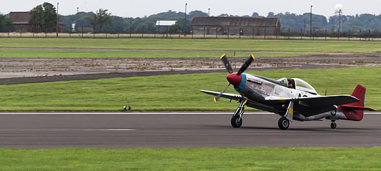RAF Scampton 2017 - P-51 Mustang Landing by Scott Lyons