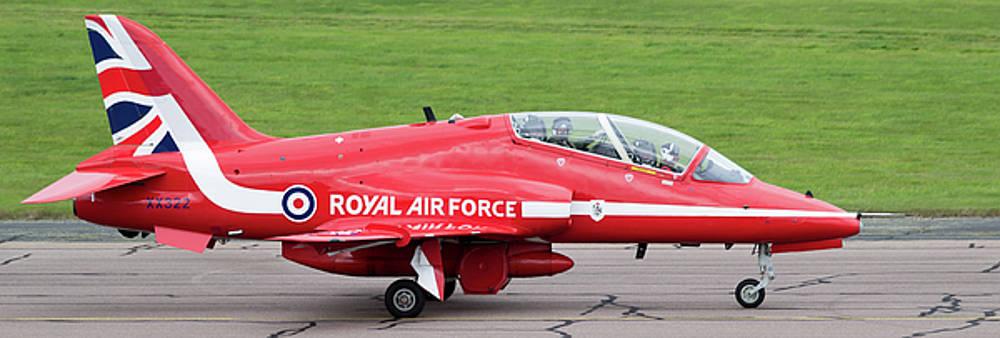 RAF Scampton 2017 - Red Arrows XX322 Sitting On Runway by Scott Lyons