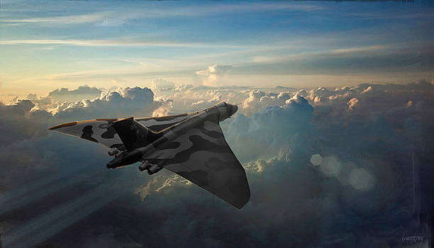 RAF Vulcan Sunrise by James Vaughan