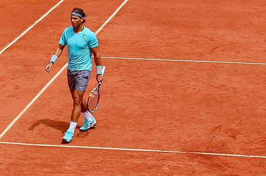 Rafa Nadal Between Points by Lexi Heft