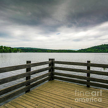 BERNARD JAUBERT - Railing on a lake in Auvergne. France