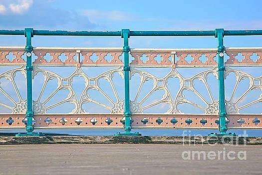 railings on Penarth pier by Susan Wall