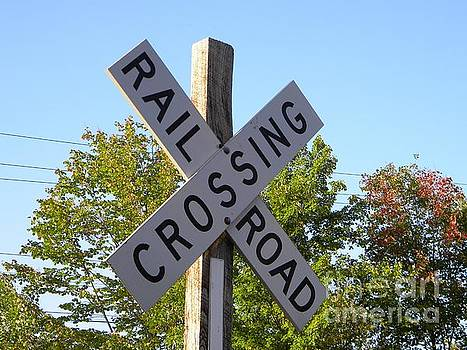 Railroad Crossing Sign by Kristy Evans