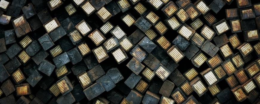 Michelle Calkins - Railroad Ties Stacked