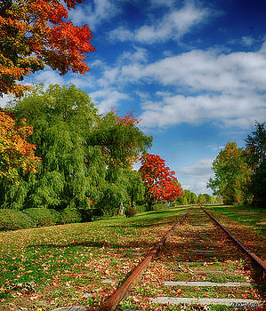 Railroad Tracks at Grand-Pre National Historic Site by Ken Morris