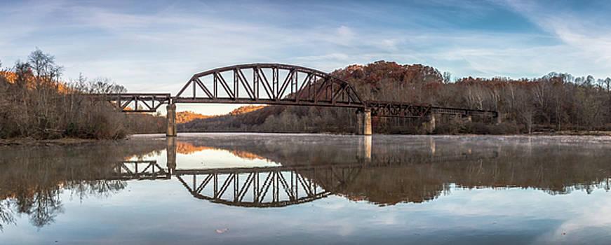 Railroad Trestle Panorama by Steve Konya II