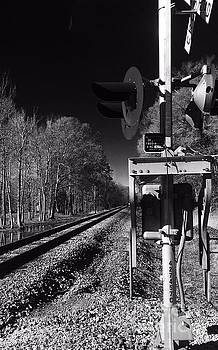 Railway 2 black and white by Robin Lewis