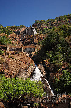 Railway bridge over Dudhsagar Falls by Deborah Benbrook