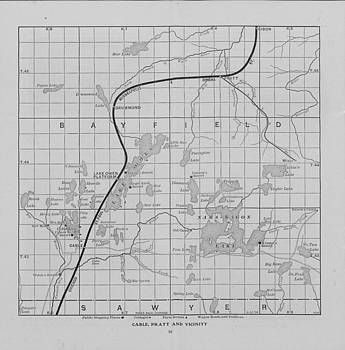 Chicago and North Western Historical Society - Railway Map of Northern Wisconsin - Cable and Pratt