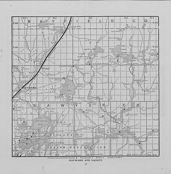 Chicago and North Western Historical Society - Railway Map of Northern Wisconsin - Hayward and Vicinity