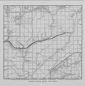 Chicago and North Western Historical Society - Railway Map of Northern Wisconsin - Radisson and Vicinity
