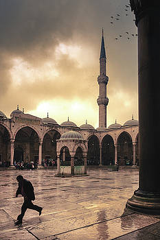 Rain at the Blue Mosque by Marji Lang
