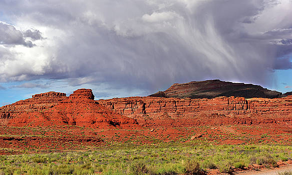 Rain Clouds into Monument Valley by Jeffrey Hamilton