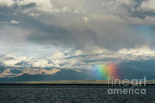 Rainbow above Lake Manasarovar Kailas Artmif.lv by Raimond Klavins