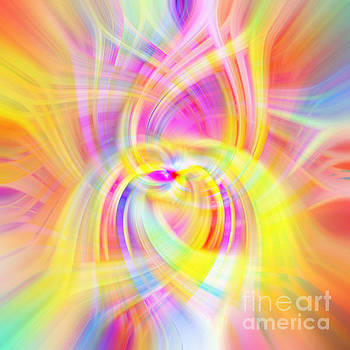 Rainbow Abstract Swirls by Phill Petrovic