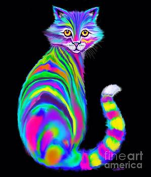 Rainbow Alley Cat by Nick Gustafson