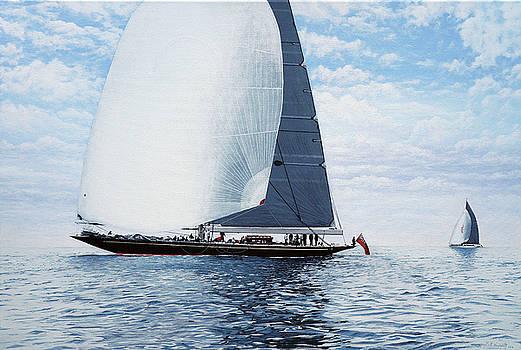Rainbow and Ranger J Class Racing Yachts by Mark Woollacott