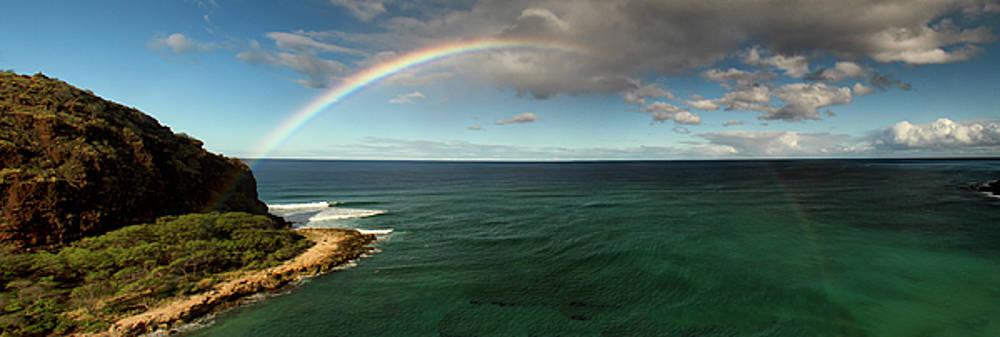 Rainbow at Mauna Lahilahi by Debby Richards