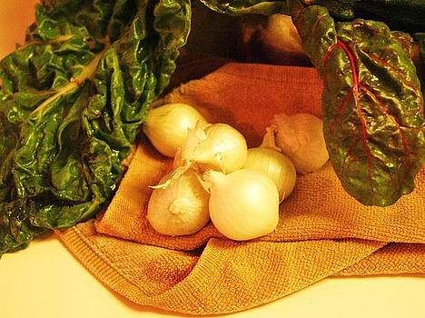 Jamey Balester - Rainbow Chard and Pearl Onions