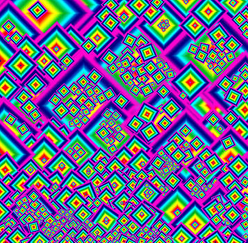 Rainbow Diamond Abstract by Donna Haggerty