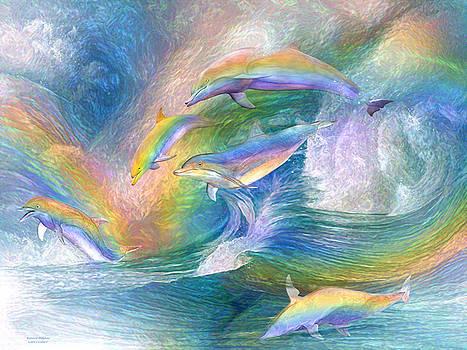 Rainbow Dolphins by Carol Cavalaris