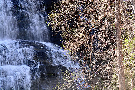 Rainbow Falls in Gorges State Park NC 03 by Bruce Gourley