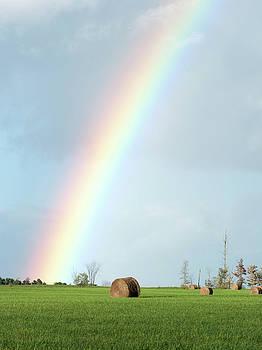 Rainbow Hay Field by Thomas Pettengill
