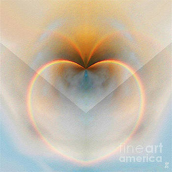 Rainbow Heart Abstract by Neil Finnemore