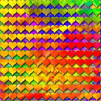 Rainbow hearts 1 by Dalia Rubin