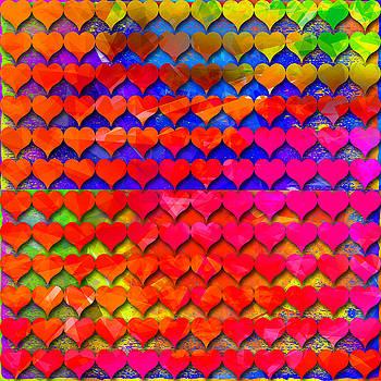 Rainbow Hearts 2 by Dalia Rubin