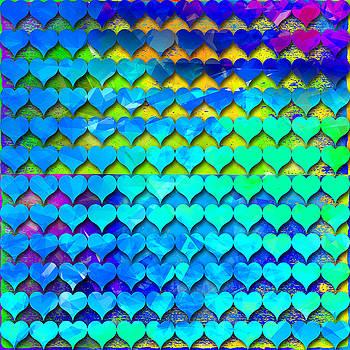 Rainbow hearts 6 by Dalia Rubin