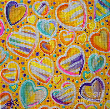 Rainbow Hearts by Jackie Carpenter