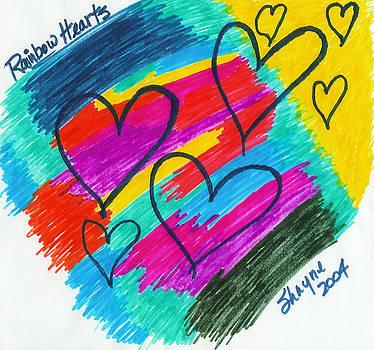 Rainbow Hearts by Susan Schanerman