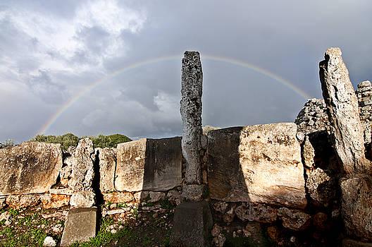 Pedro Cardona Llambias - Rainbow in human bronze age settlement in Minorca Island