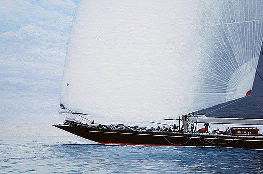 Rainbow J Class Racing Yacht Detail by Mark Woollacott