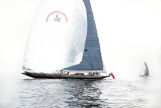 Rainbow JH2 J-Class Racing Yacht by Mark Woollacott