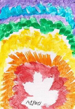 Artists With Autism Inc - Rainbow Leaf