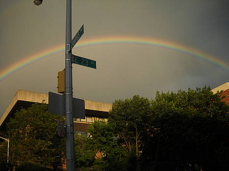 Rainbow Over Brooklyn by Michael Facey