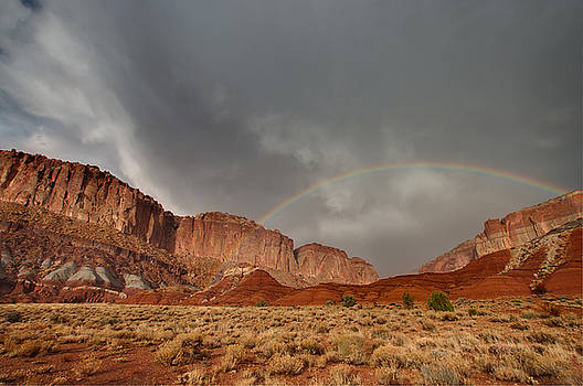 Rainbow over Grand Wash by Jeff Clay