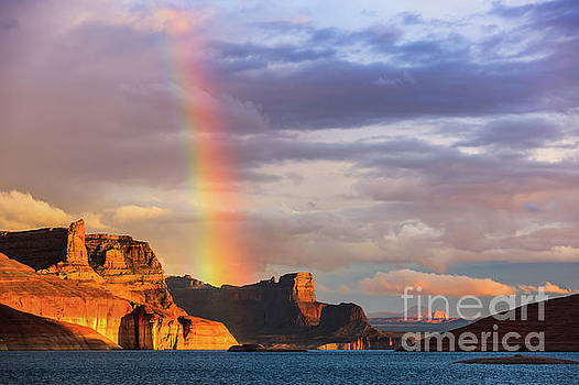 Rainbow over Lake Powell by Henk Meijer Photography